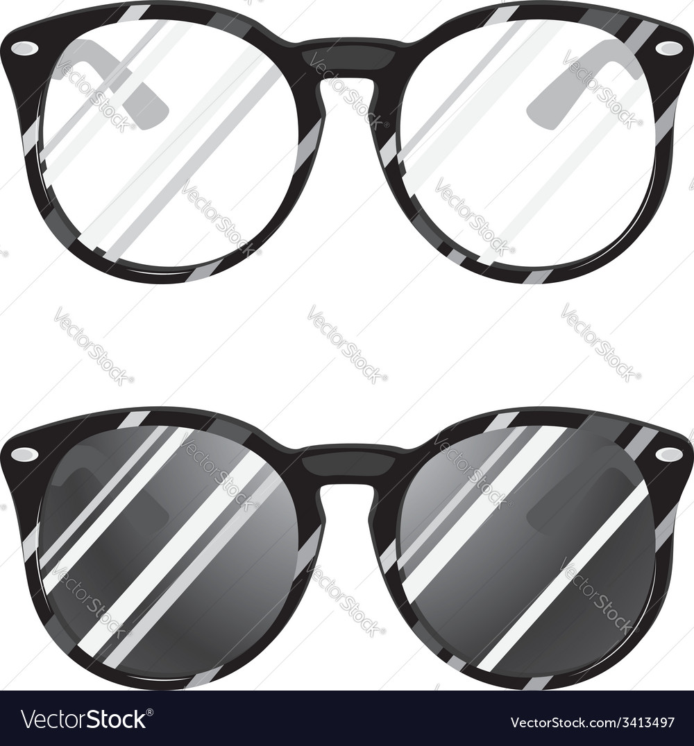 Hipster glasses2 vector