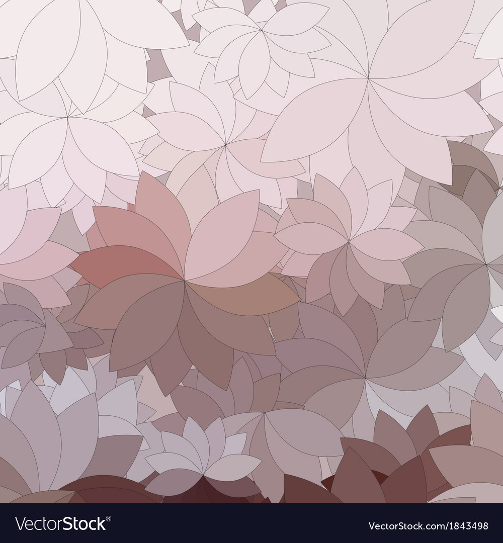 Abstract flowers and petals vector