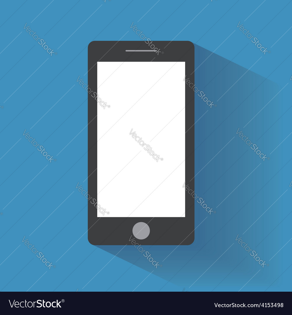 Smartphone with blank screen vector