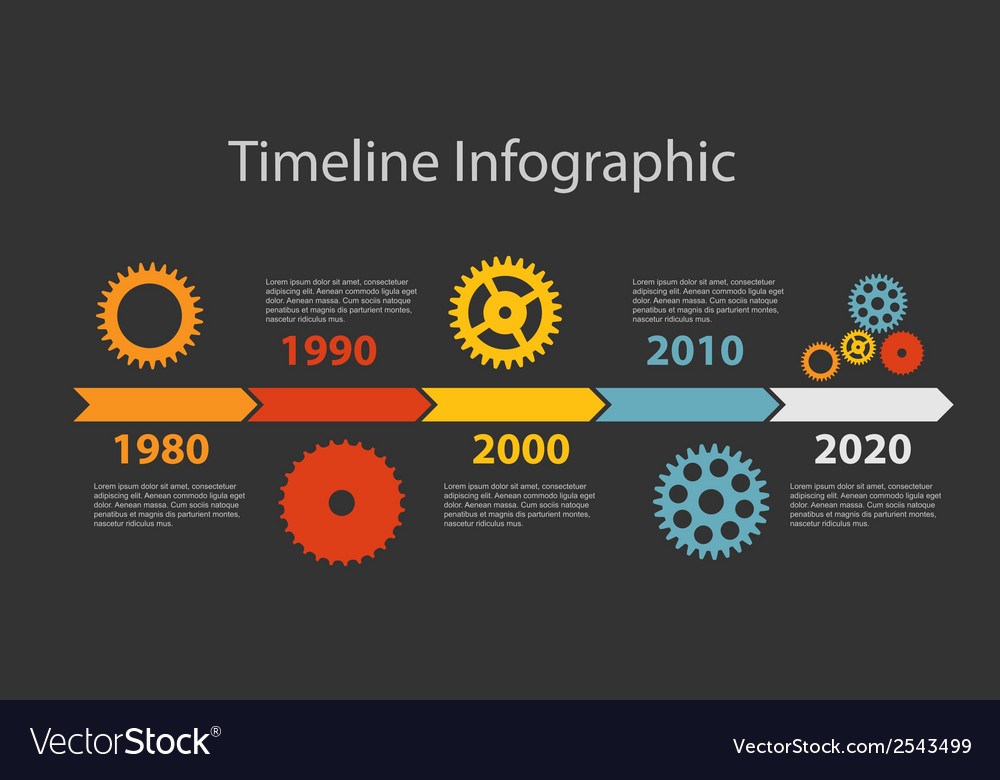Timeline infographic template for business vector