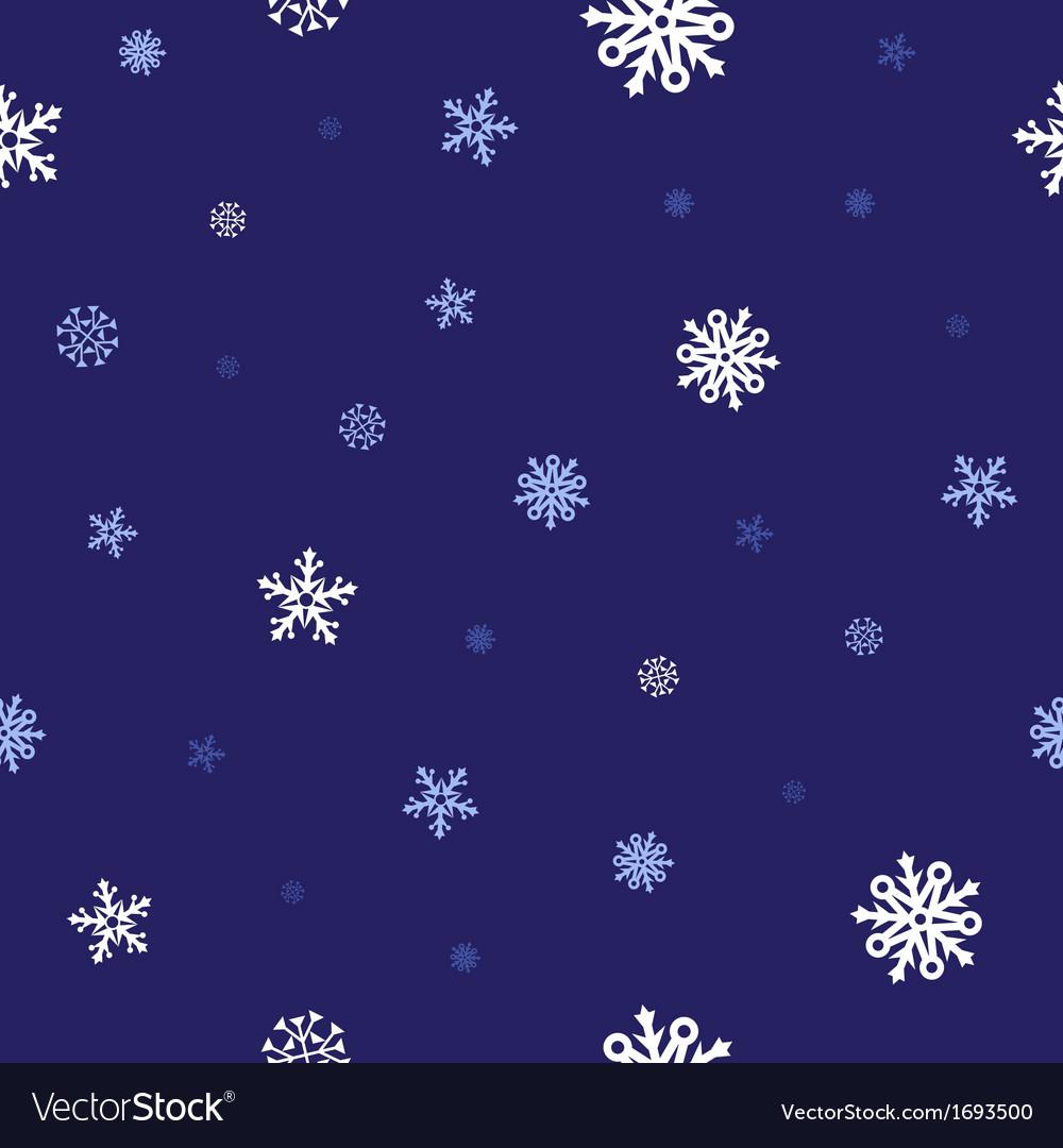 Snow blue pattern vector