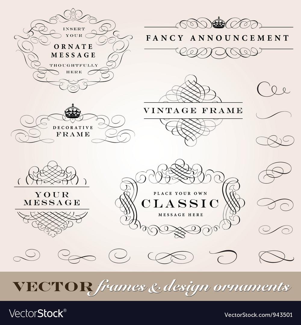 Ornament frames set vector