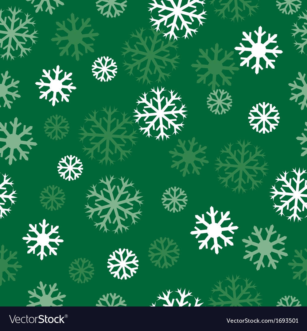 Snow green pattern vector