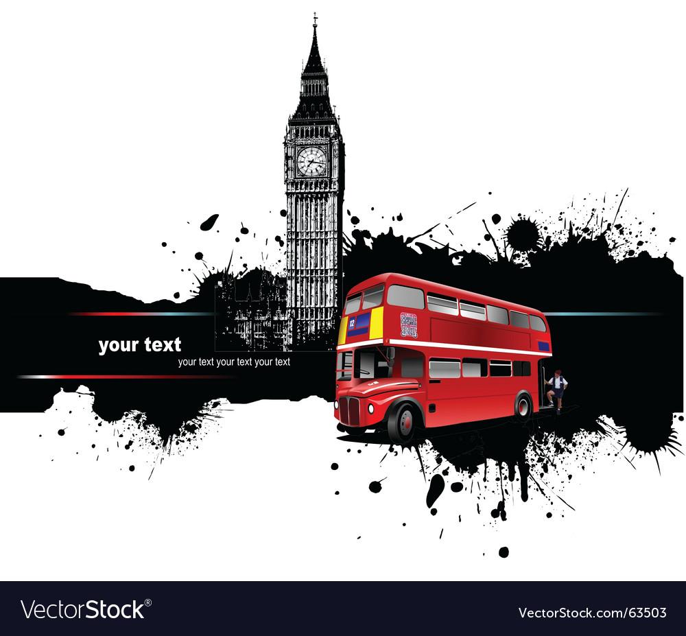 Grunge london vector