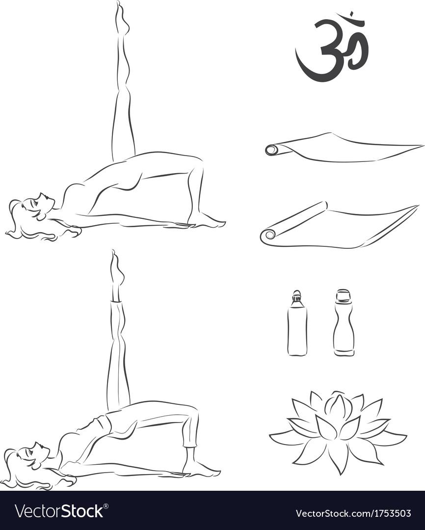 Yoga exercise vector