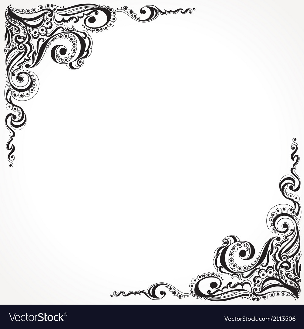 Abstract floral tattoo pattern vector