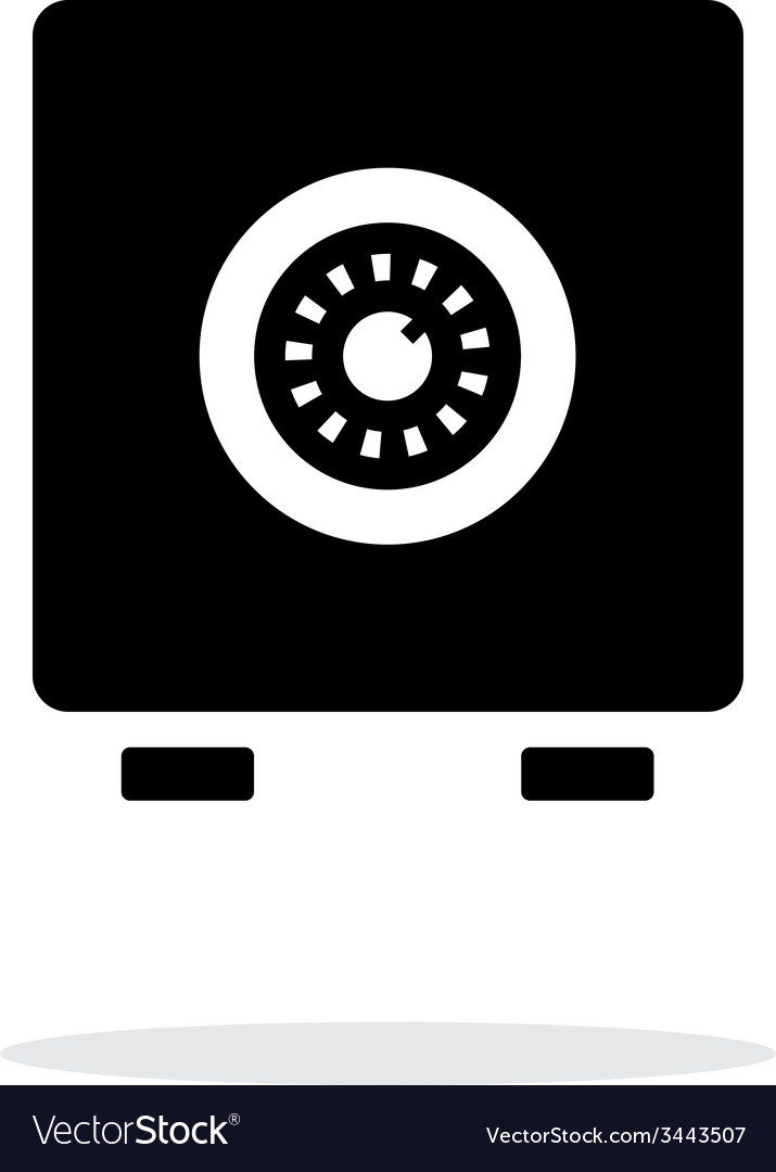 Strongbox icon on white background vector