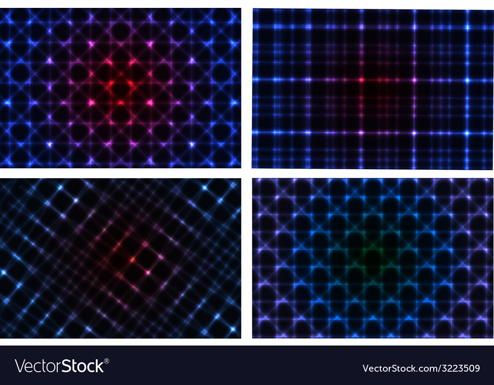 Abstract neon background collection vector