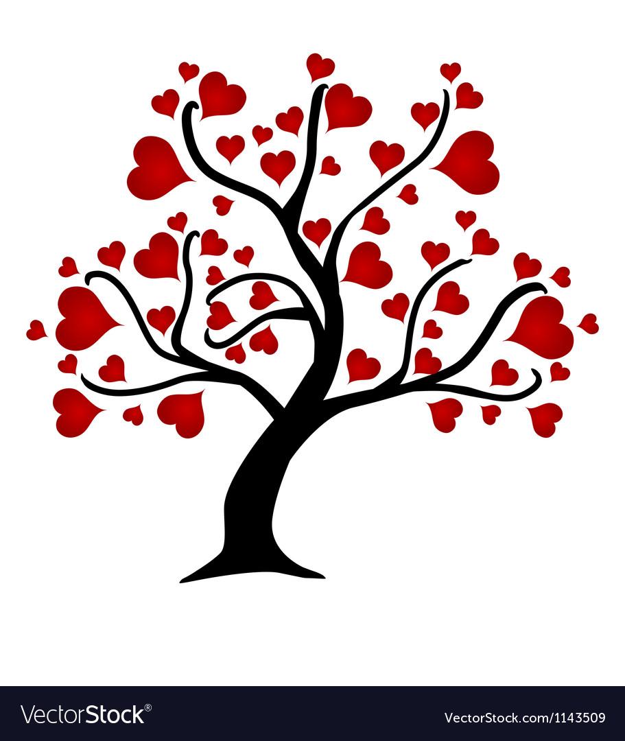 Love trees vector