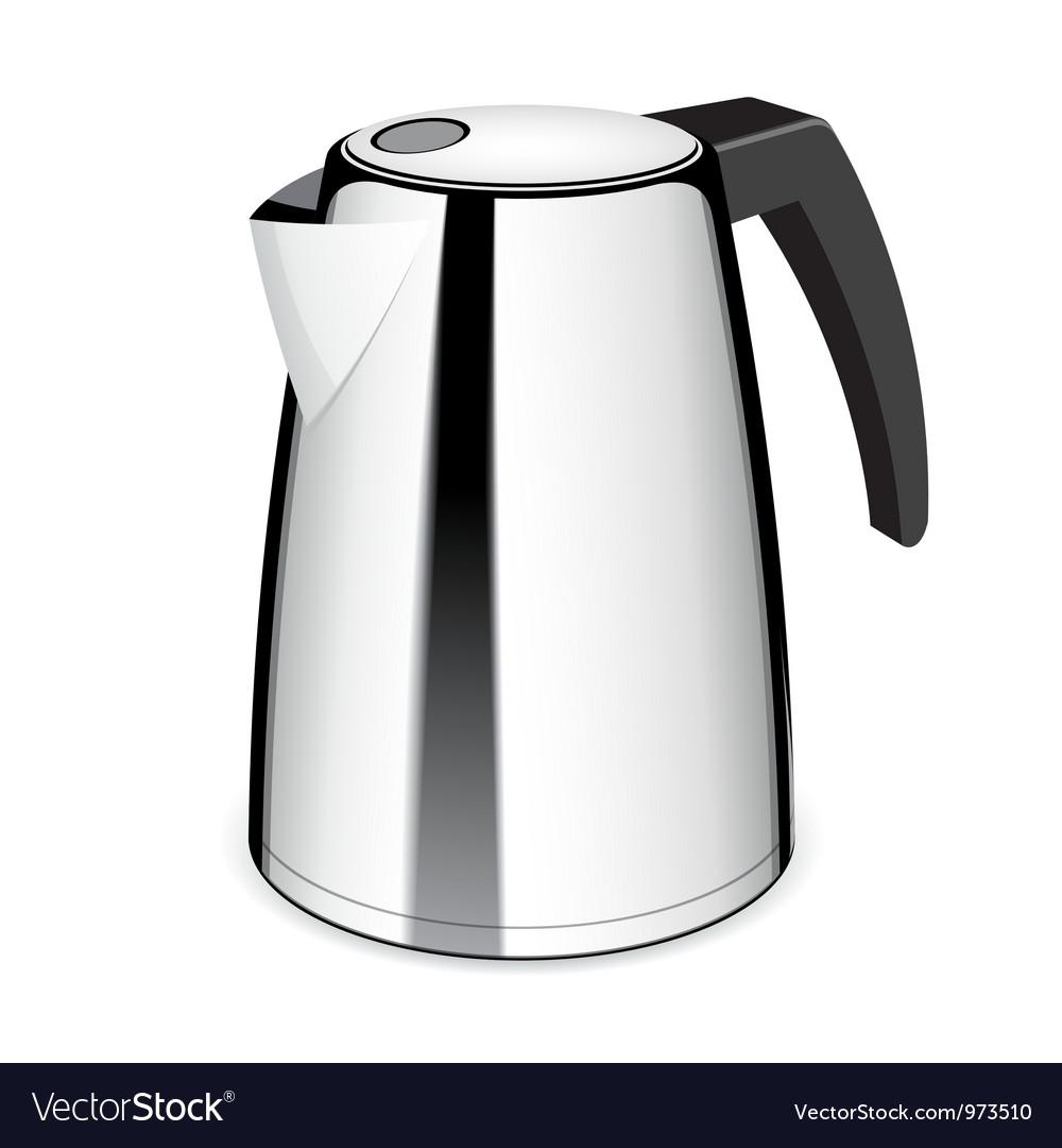 An isolated electric tea kettle vector
