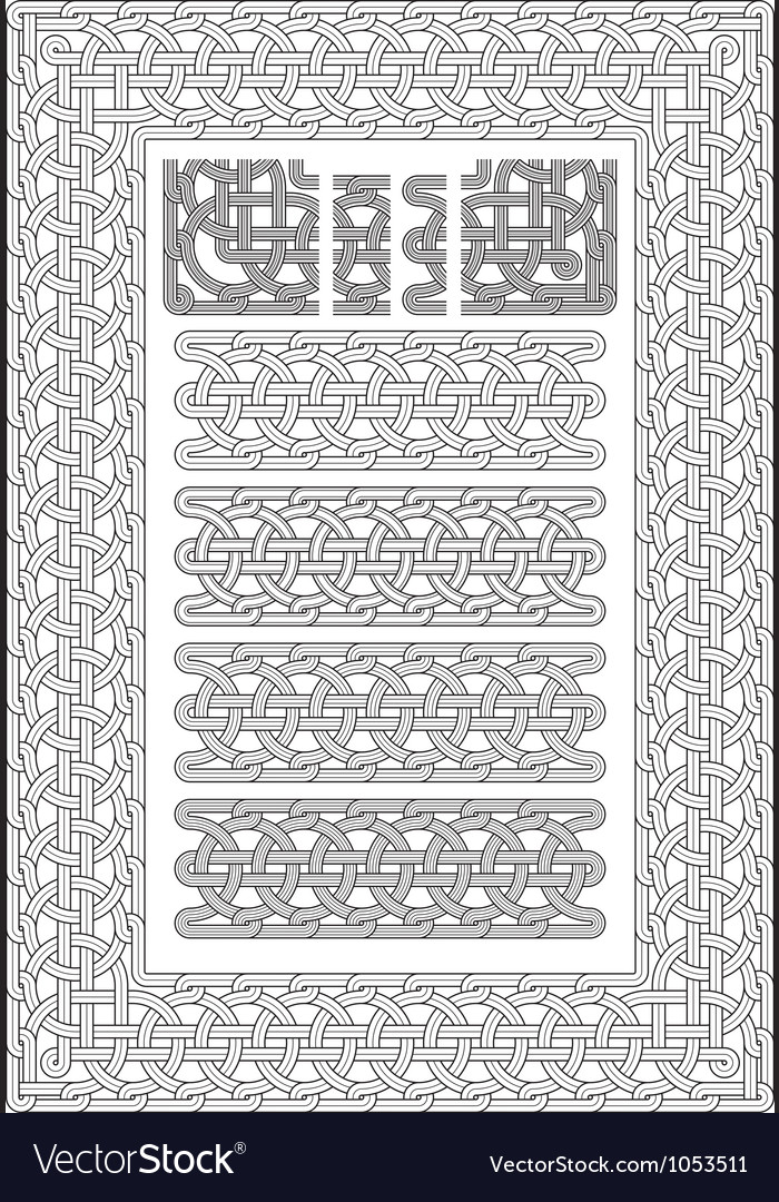 Georgian knot ornament from old temples 2008 vector