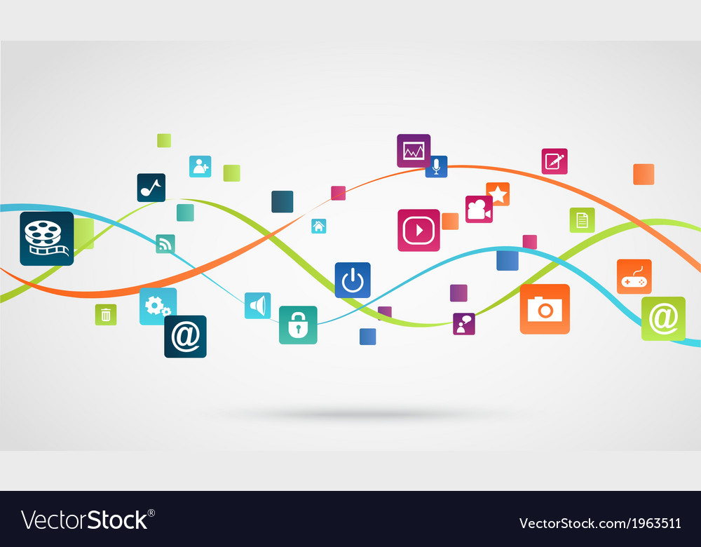 Internet application background vector