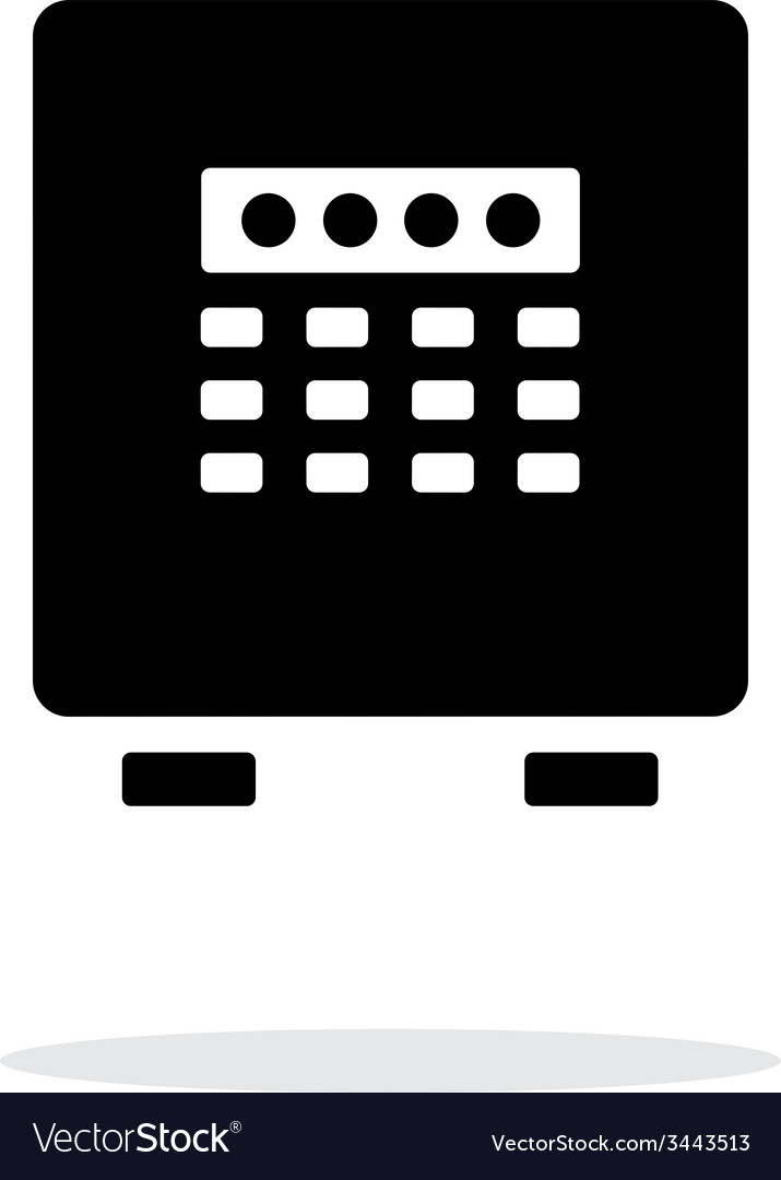 Electronic safe icon on white background vector