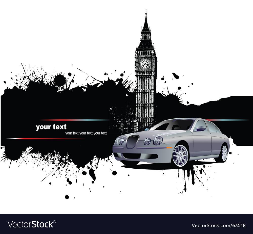 Grunge london background vector