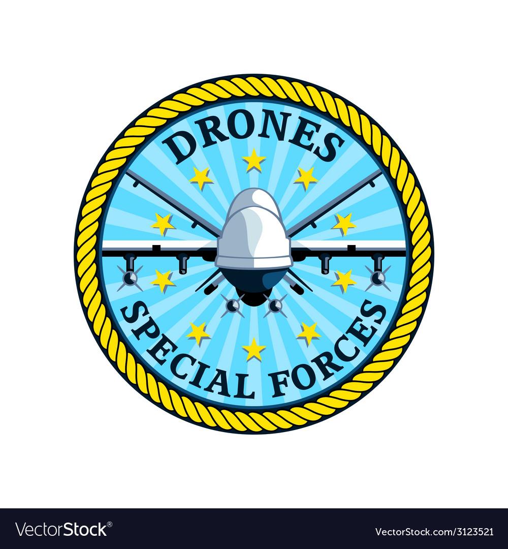 Drones special forces vector