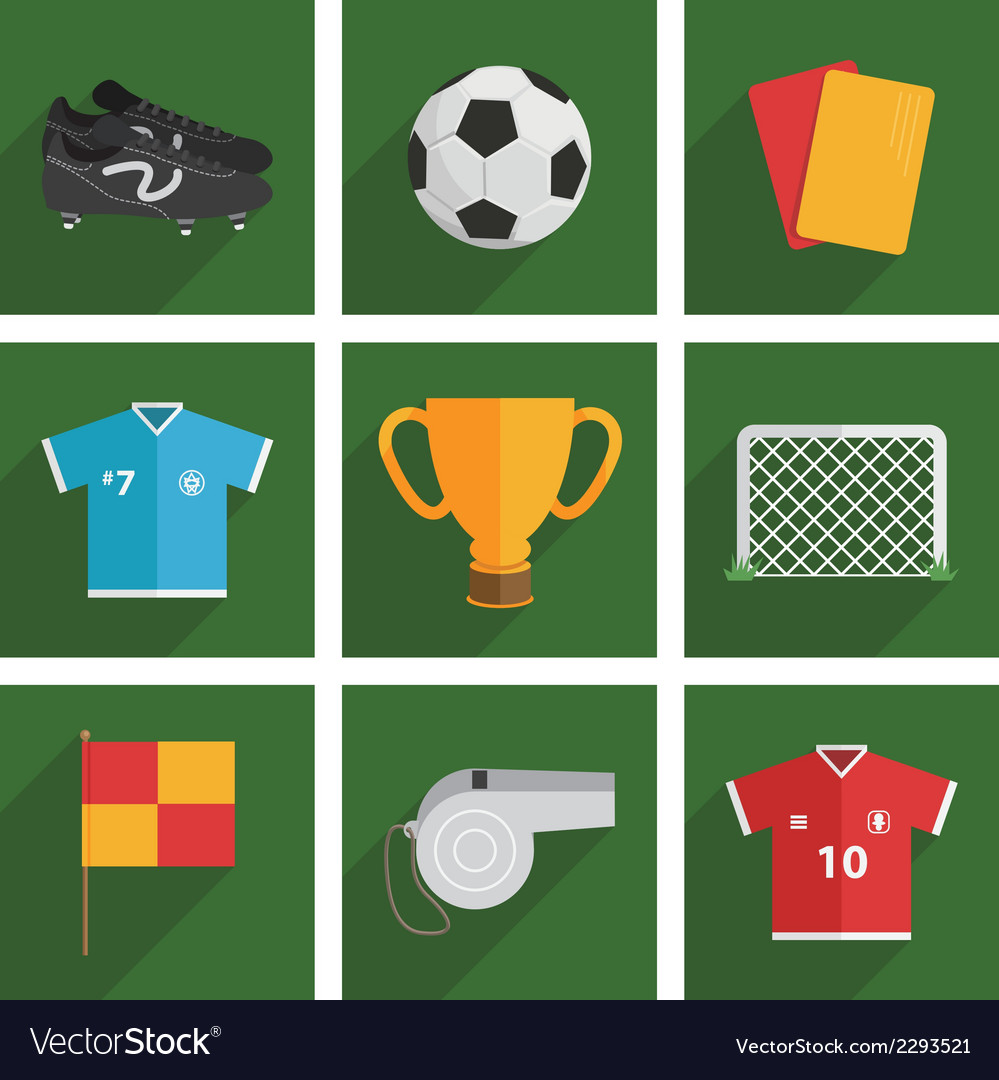 Football icons vector