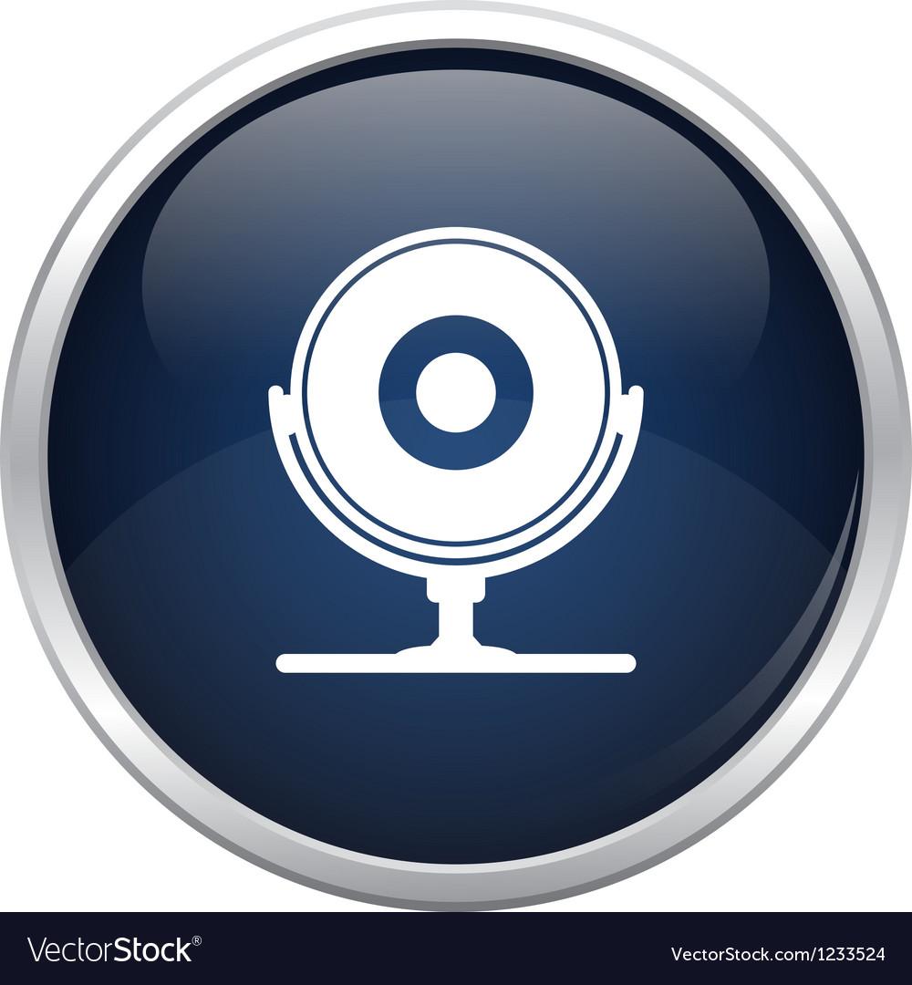 Blue webcam icon vector