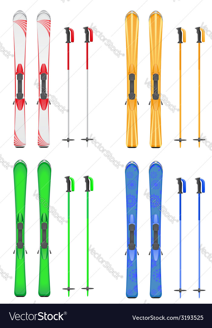 Skis mountain 06 vector