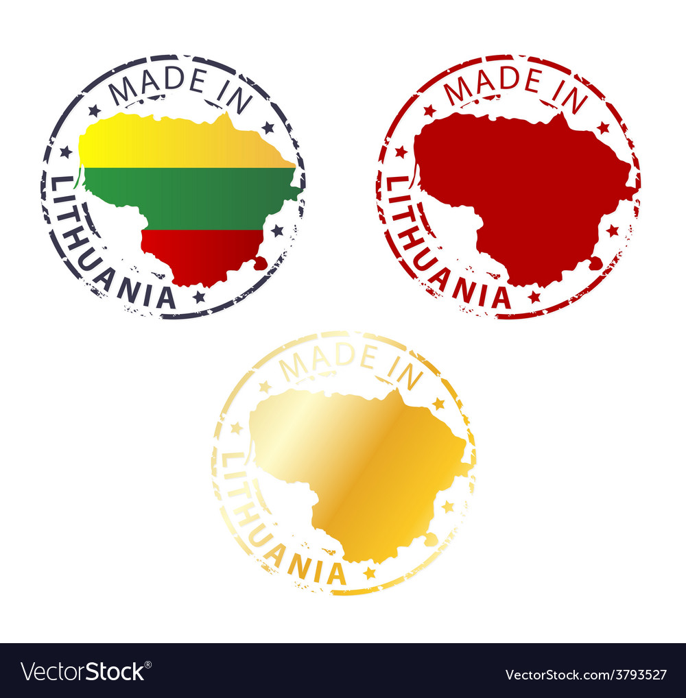 Made in lithuania stamp vector