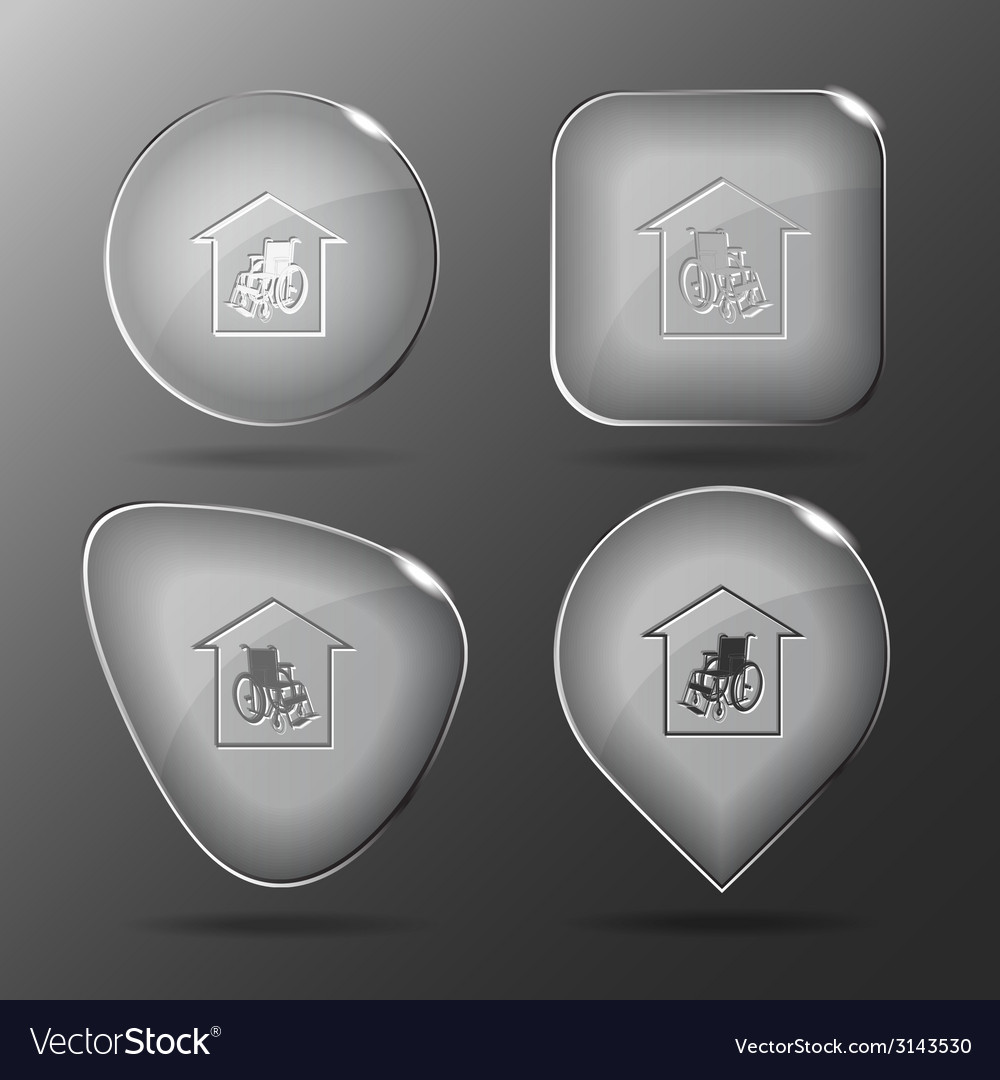 Nursing home glass buttons vector