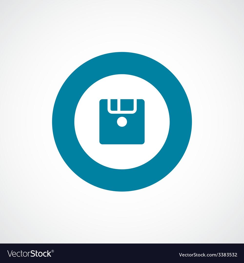 Save bold blue border circle icon vector