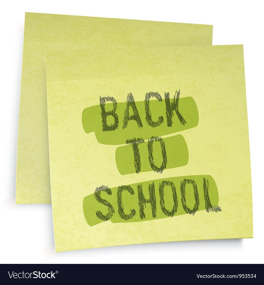 Back to school reminder vector