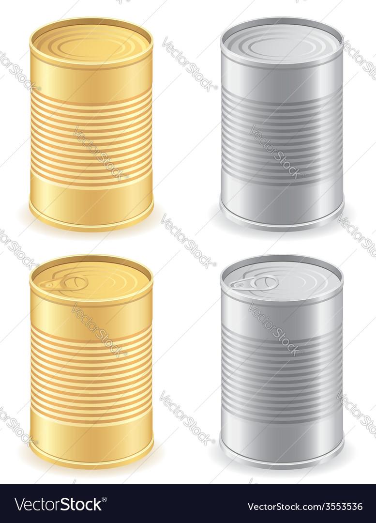Metal tin can 01 vector
