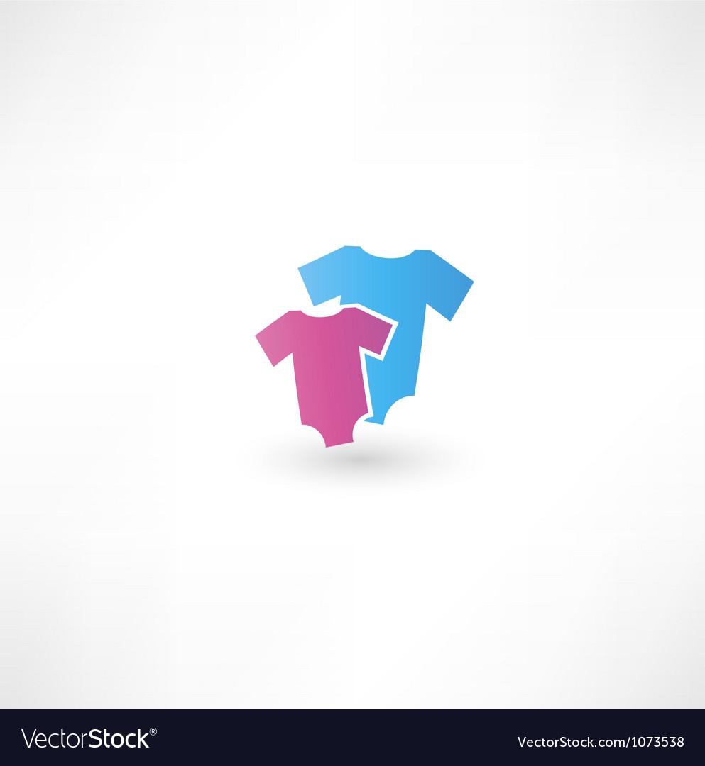 Childrens wear icon vector