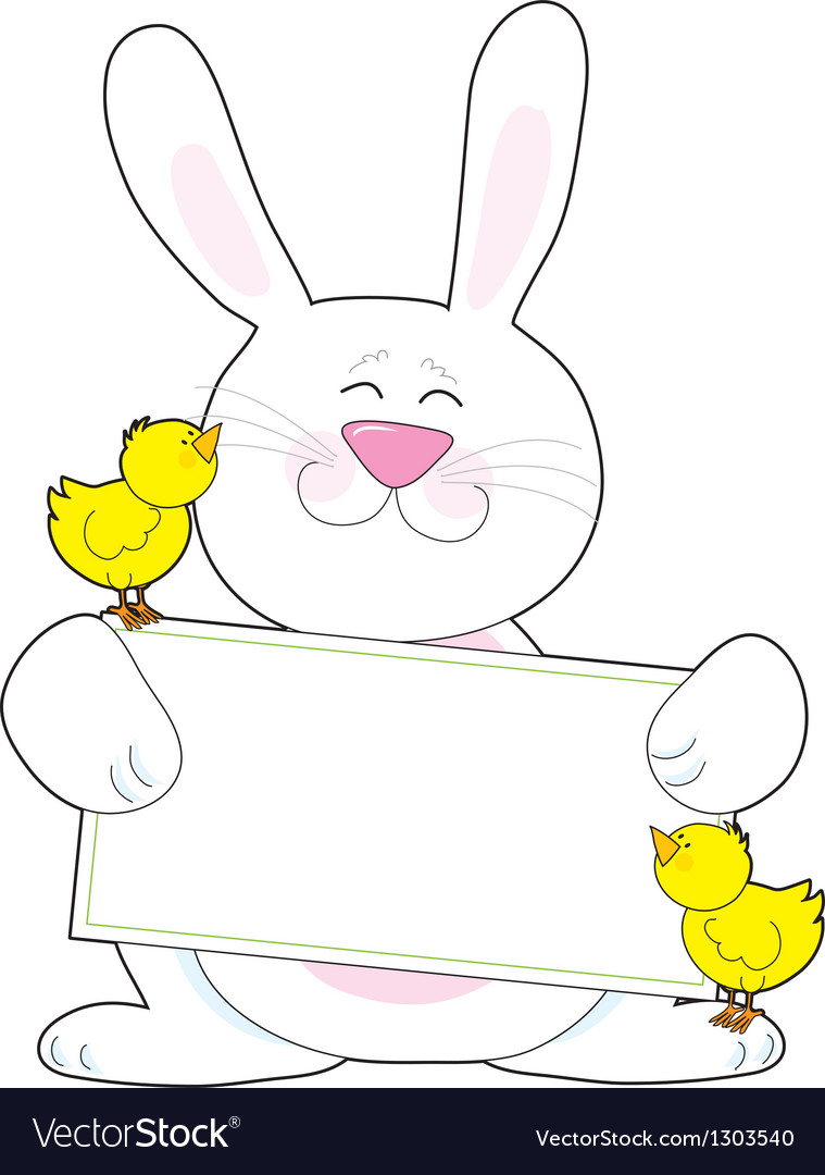 Bunny sign vector