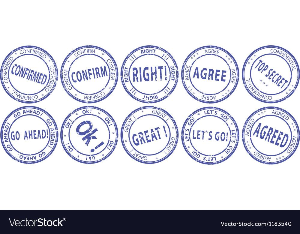 Business communication stamp set vector