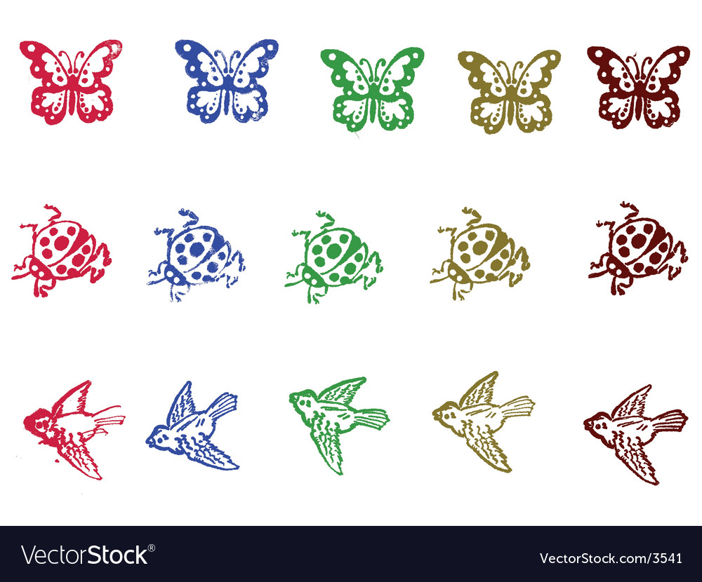 Insect elements vector