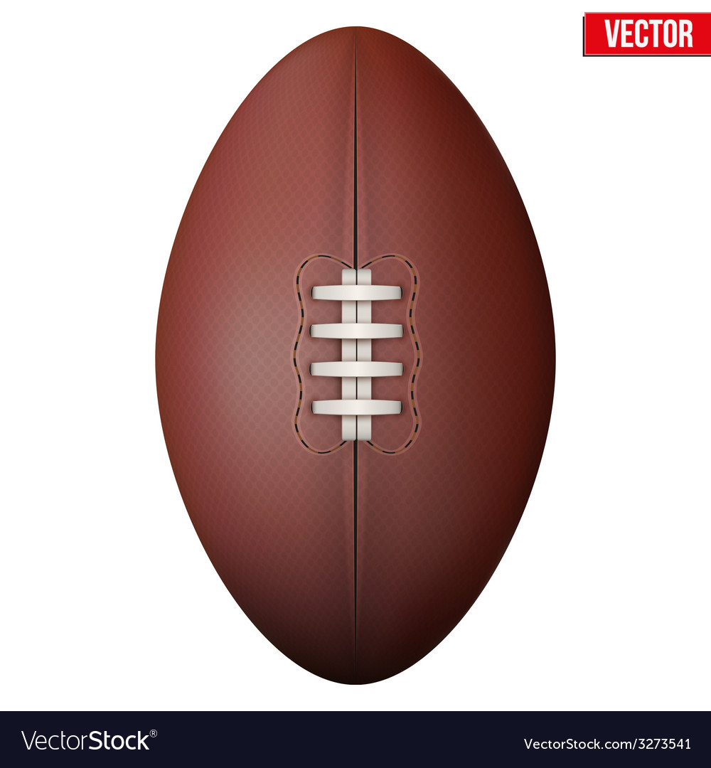 Rugby ball isolated on a white background vector