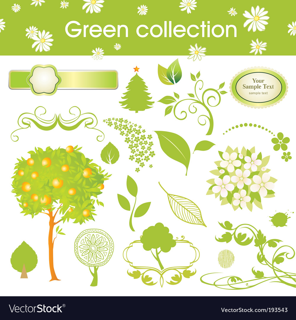 Nature collection vector