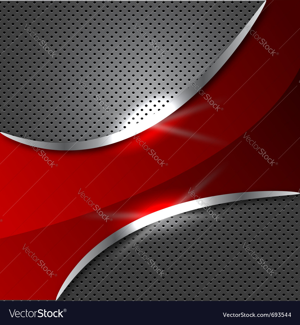 Red metalic background vector