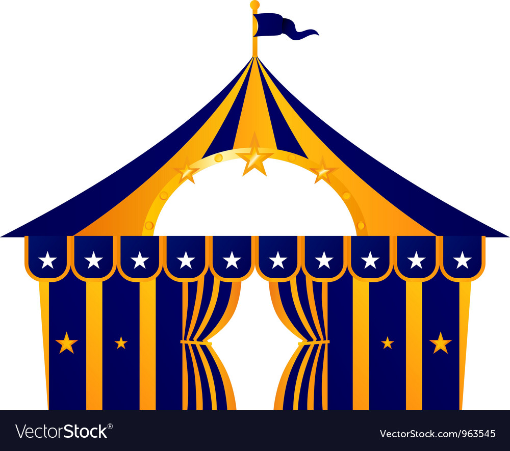 Circus blue tent vector