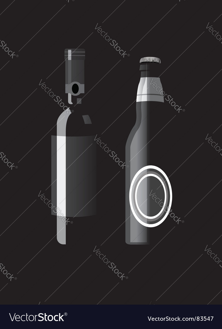 Alcohol bottles vector