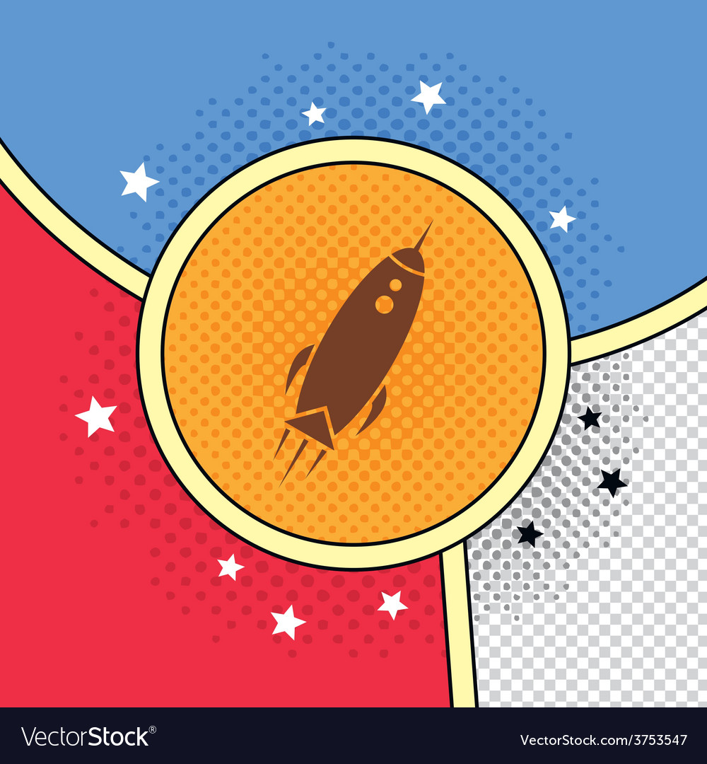 Space shuttle rocket vector