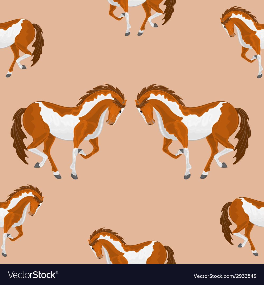 Seamless texture piebald horse vector
