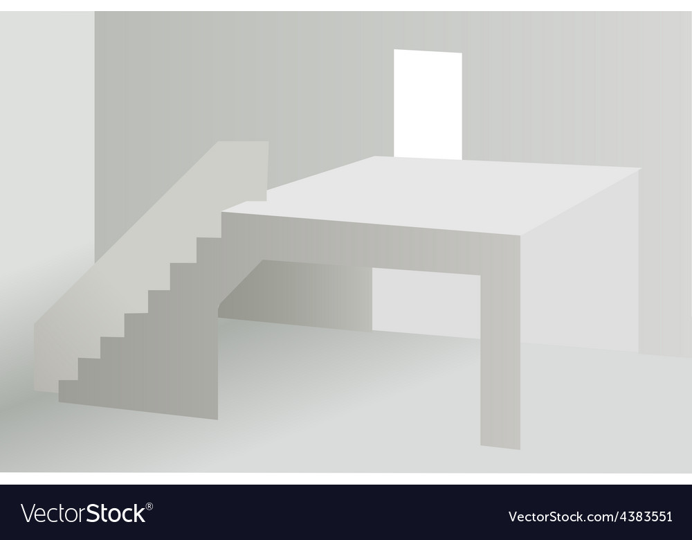 White abstract building background vector