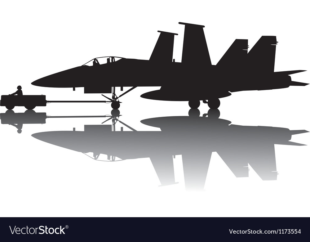 Military aircraft silhouette vector