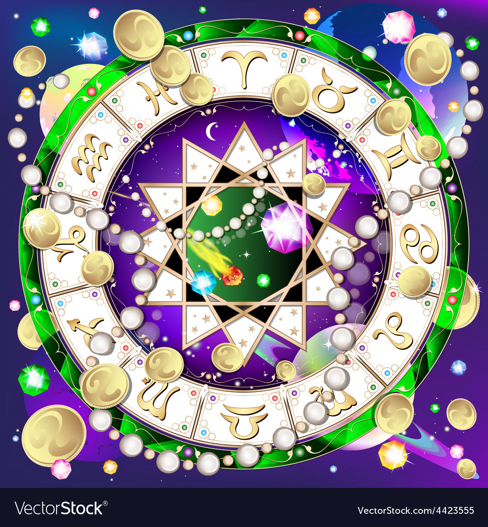 Signs of the zodiac astrology vector