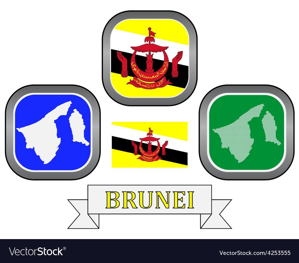Symbols of brunei vector
