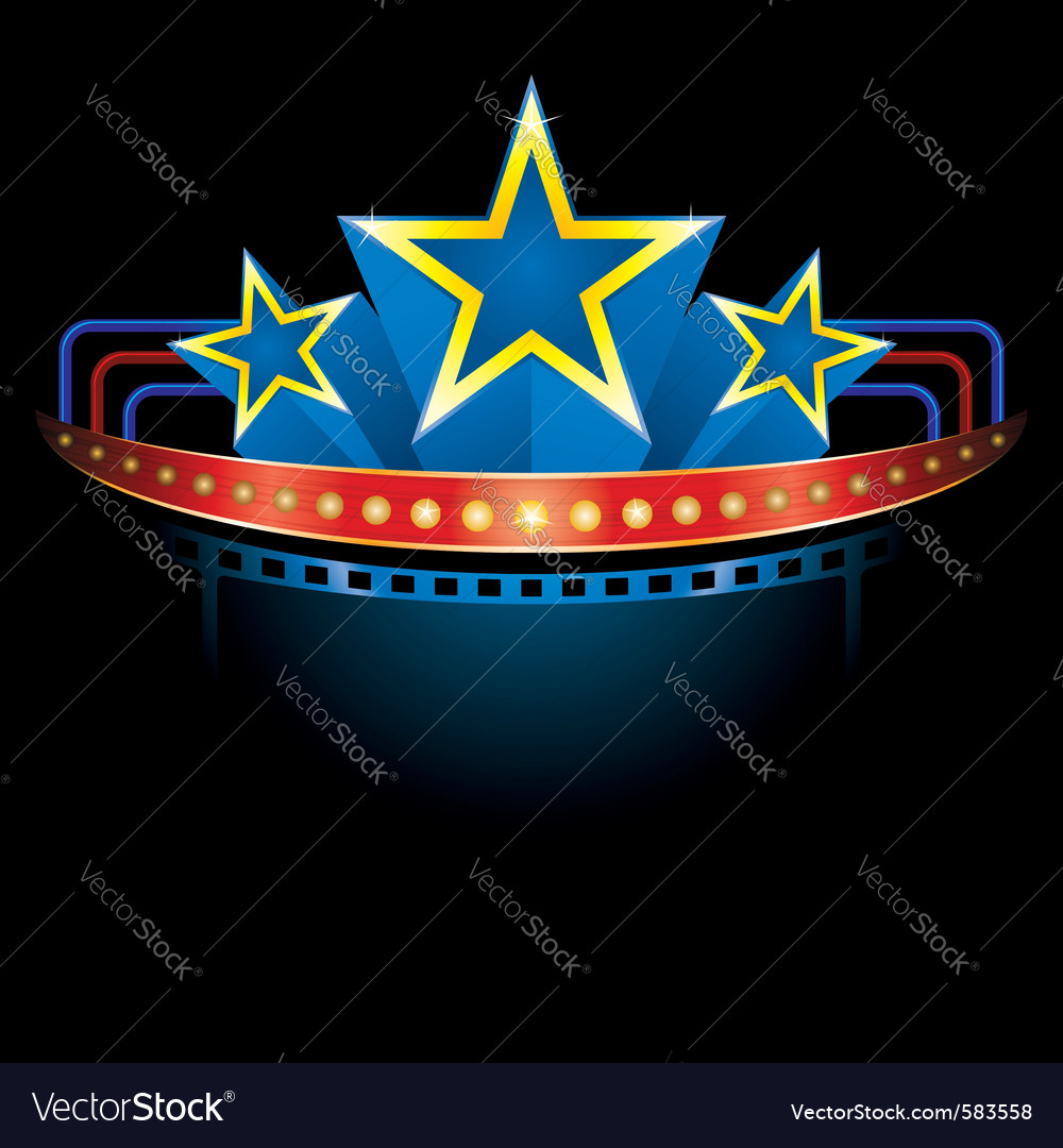 Blockbuster with stars vector