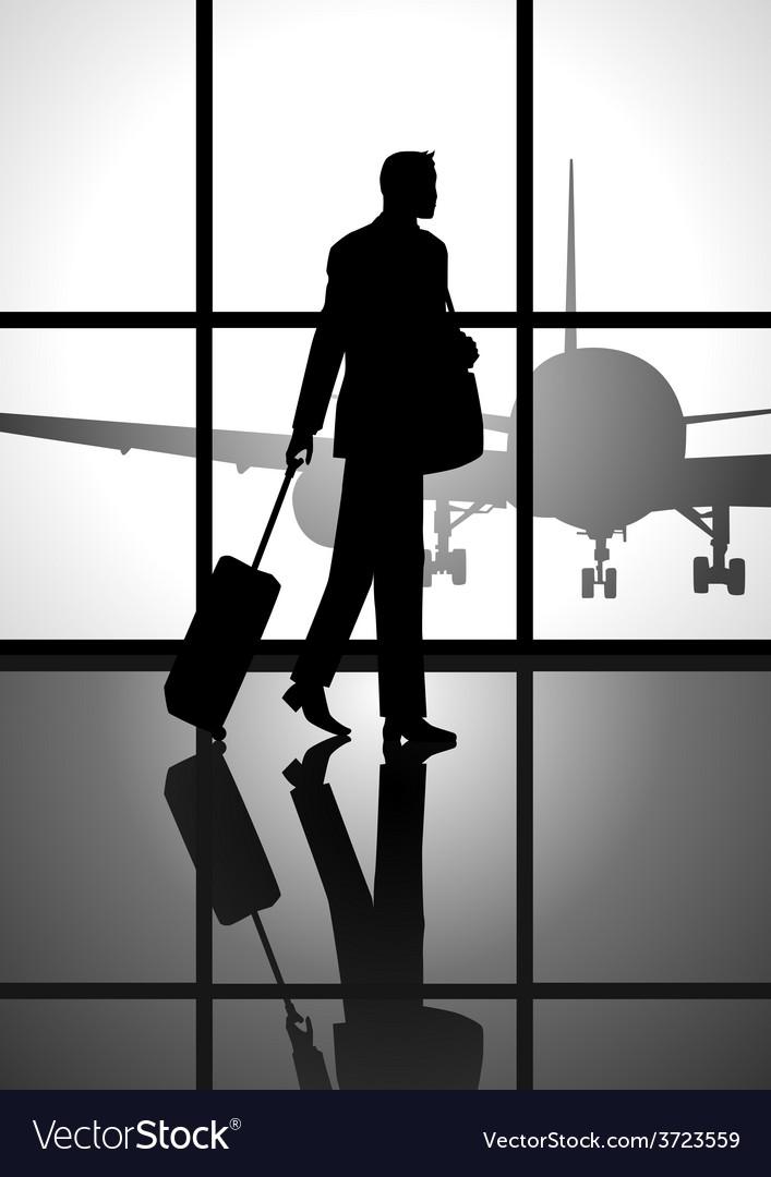 Business trip vector