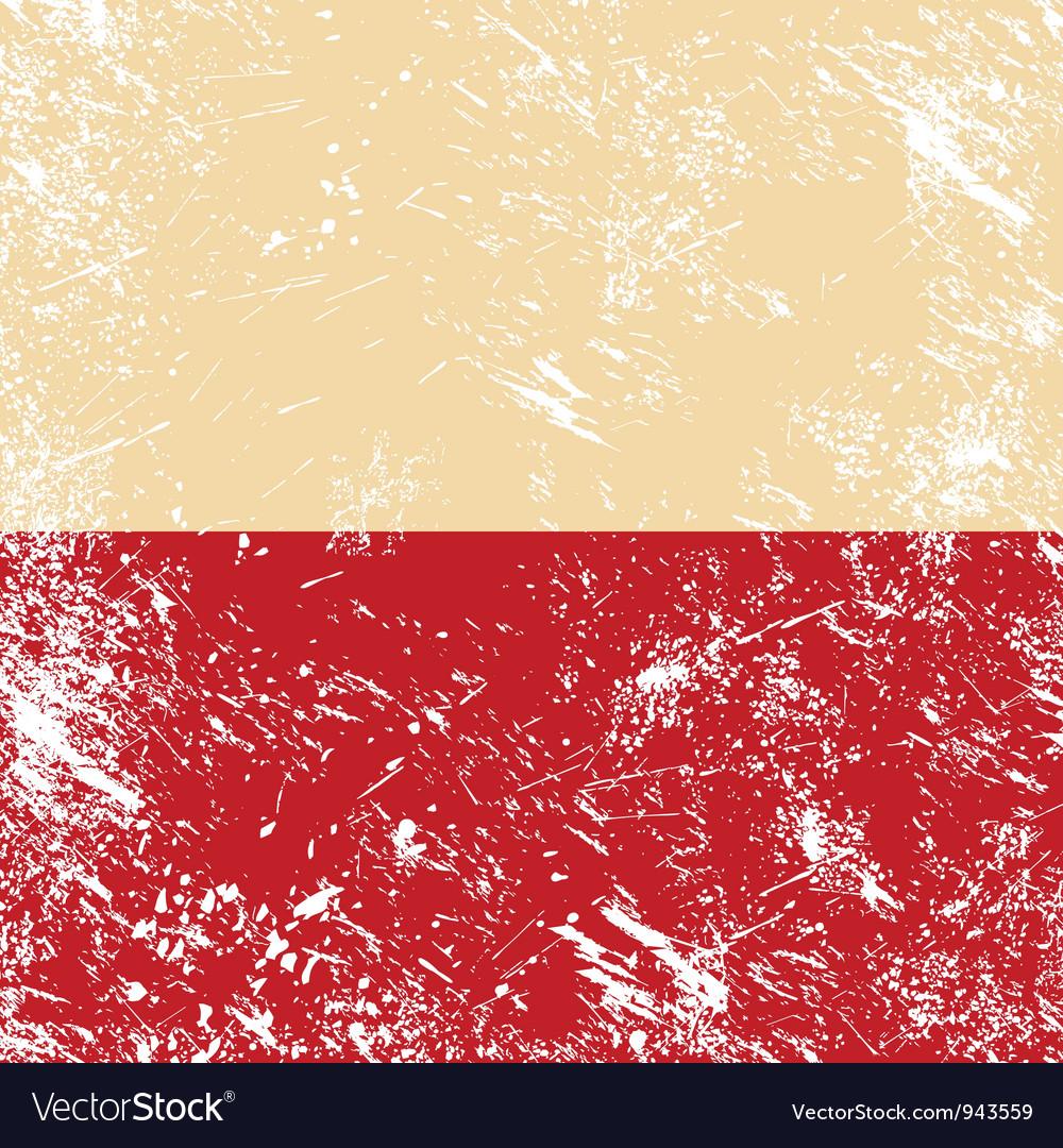 Poland retro flag vector