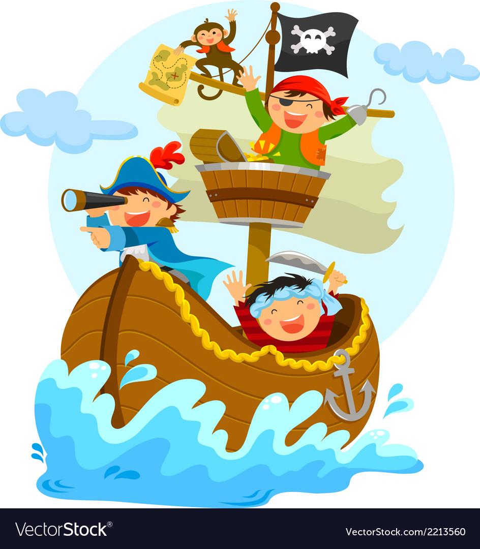 Happy pirates vector