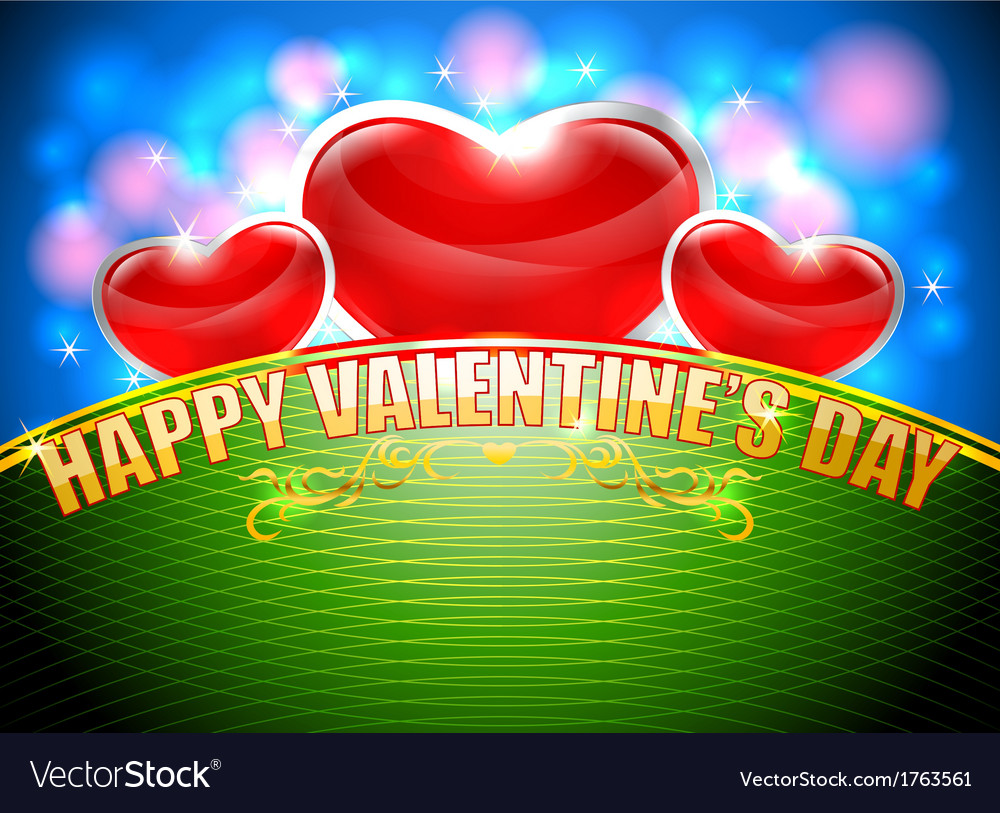 Celebrate the day of love vector