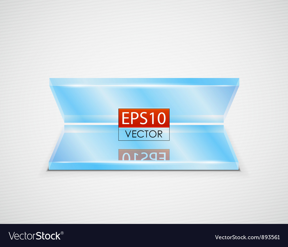 Glass shelves copy space background vector