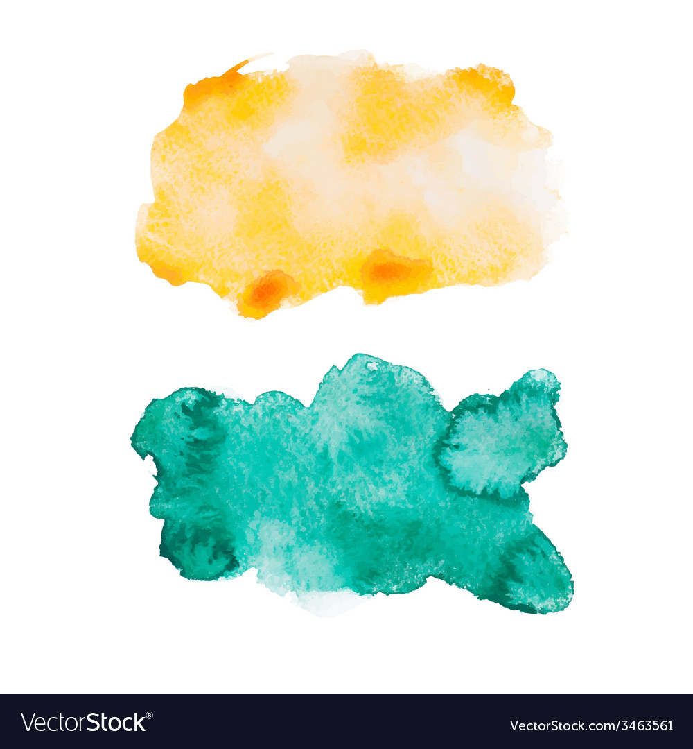 Green blue colorful abstract hand draw watercolour vector