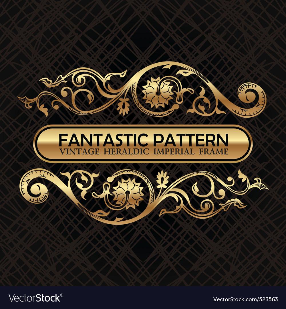 Vintage floral decor ornament pattern vector
